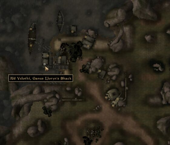File:TES3 Morrowind - Ald Velothi - Ganus Lloryn's Shack - location map.jpg