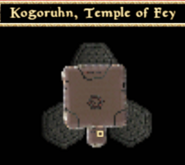 Kogoruhn, Temple of Fey - Interior Map - Morrowind