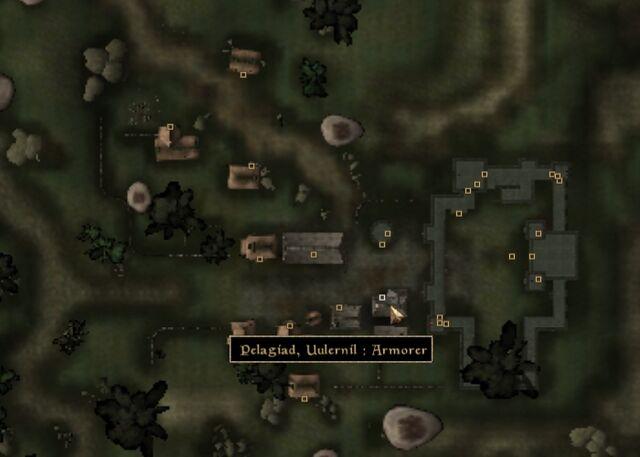 File:TES3 Morrowind - Pelagiad - Uulernil Armorer - location map.jpg