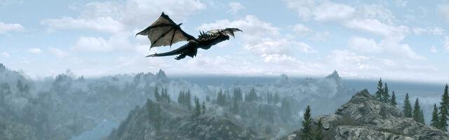 File:Skyrim Panorama Dragon.jpg