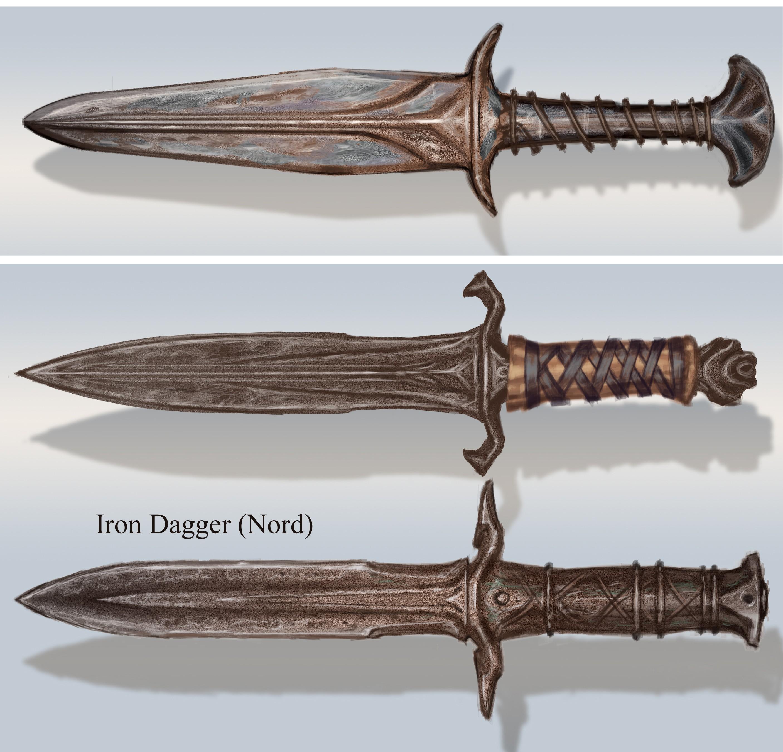 Fichier:Iron Dagger Concept Variations.jpg
