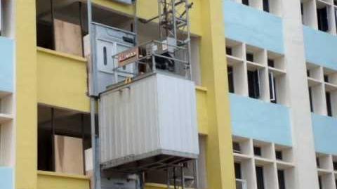 Blk 1016 Paya Lebar Industrial HDB - Alimak Elevator (Exterior)