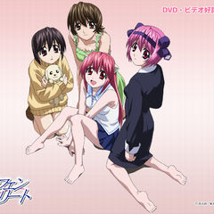 The main cast of Elfen Lied (anime)