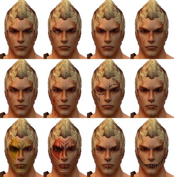 Warrior Male Face Design