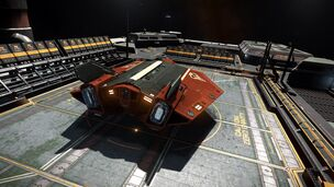 E-D - Asp Explorer - Red Pharao Top Aft View on Outpost