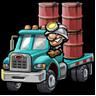Truck of tar