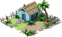 Small Blue Island Hut