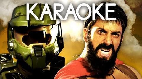 KARAOKE ♫ Master Chief vs Leonidas. Epic Rap Battles of History
