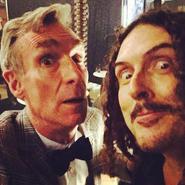 """""""Weird Al"""" and Bill Nye Selfie"""