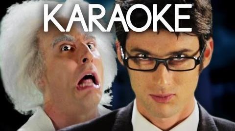 KARAOKE ♫ Doc Brown vs Doctor Who. Epic Rap Battles of History