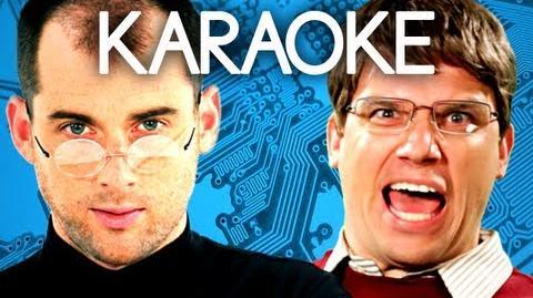 KARAOKE ♫ Steve Jobs vs Bill Gates. Epic Rap Battles of History