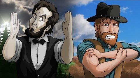 Animated Remake - ABE LINCOLN vs CHUCK NORRIS - Epic Rap Battles of History
