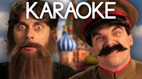 KARAOKE ♫ Rasputin vs Stalin. Epic Rap Battles of History