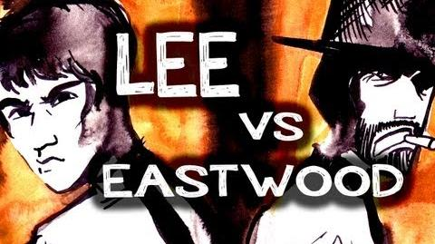 BruceLee VS Clint Eastwood epic drawing of history!