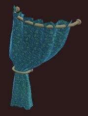 Flowered-teal-velevet-curtain-left