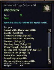 Advanced Sage Volume 58