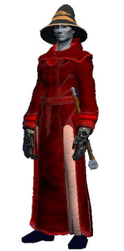 Bloodstained robe (Visible)