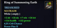 Ring of Summoning Earth