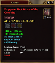 Empyrean Foot Wraps of the Cenobite