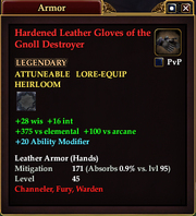 Hardened Leather Gloves of the Gnoll Destroyer