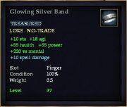 Glowing Silver Band