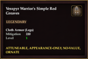 Vesspyr Warrior's Simple Red Greaves