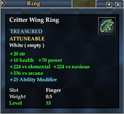 Critter Wing Ring