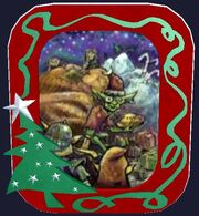 Decorative Frostfell Feast Greeting Card (Visible)