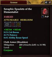 Seraphic Epaulets of the Elementalist