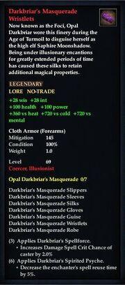 Darkbriar's Masquerade Wristlets