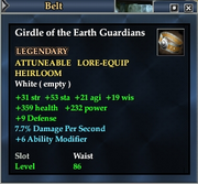 Girdle of the Earth Guardians