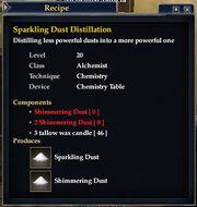 Sparkling Dust Distillation