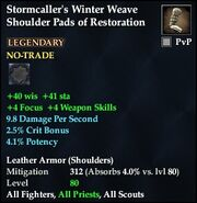 Stormcaller's Winter Weave Shoulder Pads of Restoration