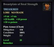 Breastplate of Feral Strength