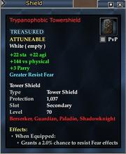 Trypanophobic Towershield