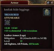 Kodiak hide leggings