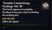 Termble Clankerbang Findings Vol. 98 (Quest Starter)