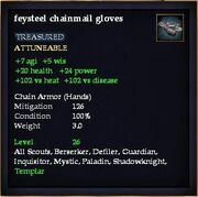 Feysteel chainmail gloves