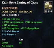 Krait Bone Earring of Grace