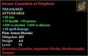 Arcane Gauntlets of Prophets