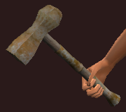 Iron Battle Hammer (Equipped)