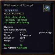 Warhammer of Triumph