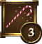 Achievement Icon red and white candycane 3