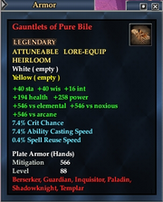 Gauntlets of Pure Bile
