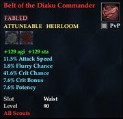 Belt of the Diaku Commander