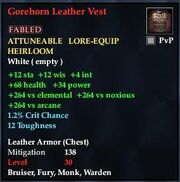 Gorehorn Leather Vest