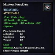 Mazkeen Knucklers