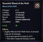 Powerful Blood of the Wolf