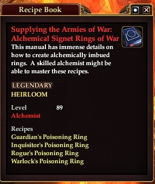 Supplying the armies of war alchemical signet rings of war
