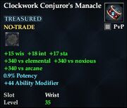 Clockwork Conjuror's Manacle